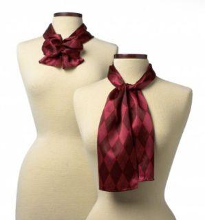 """Argyle Silk Scarf - 8""""X 45""""-Wolfmark Neckwear"""