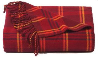 Plaid Bamboo Throw Blanket-