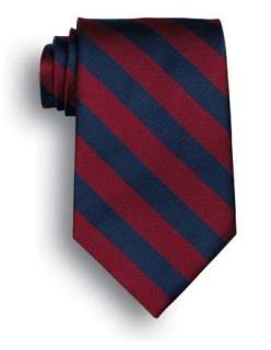 School Striped Polyester Tie-