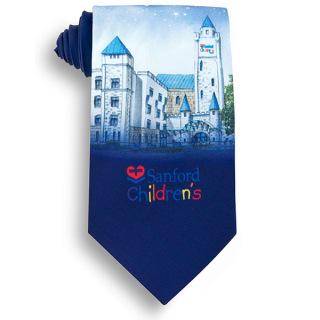 Four Color Process Custom Silk Tie-