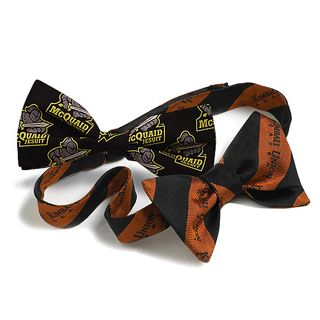 Custom Woven Logo Silk Self Tie Bow Tie-