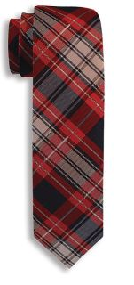Capelle Collection Plaid Woven Polyester Tie-