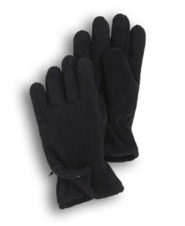 Solid Color Eco-Fleece Zip Gloves