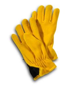 Solid Color Polar Fleece Zip Gloves