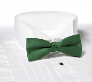 Solid Color Polyester Clip-On Bow Tie-