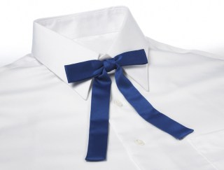 Solid Color Polyester Kentucky Colonel Adjustable Band Bow Tie-