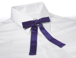Solid Color Polyester Kentucky Colonel Clip-On Bow Tie-