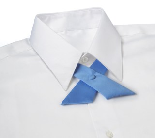 Solid Color Polyester Crossover Tie-