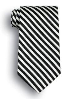 Saville Striped Polyester Tie-Wolfmark Neckwear