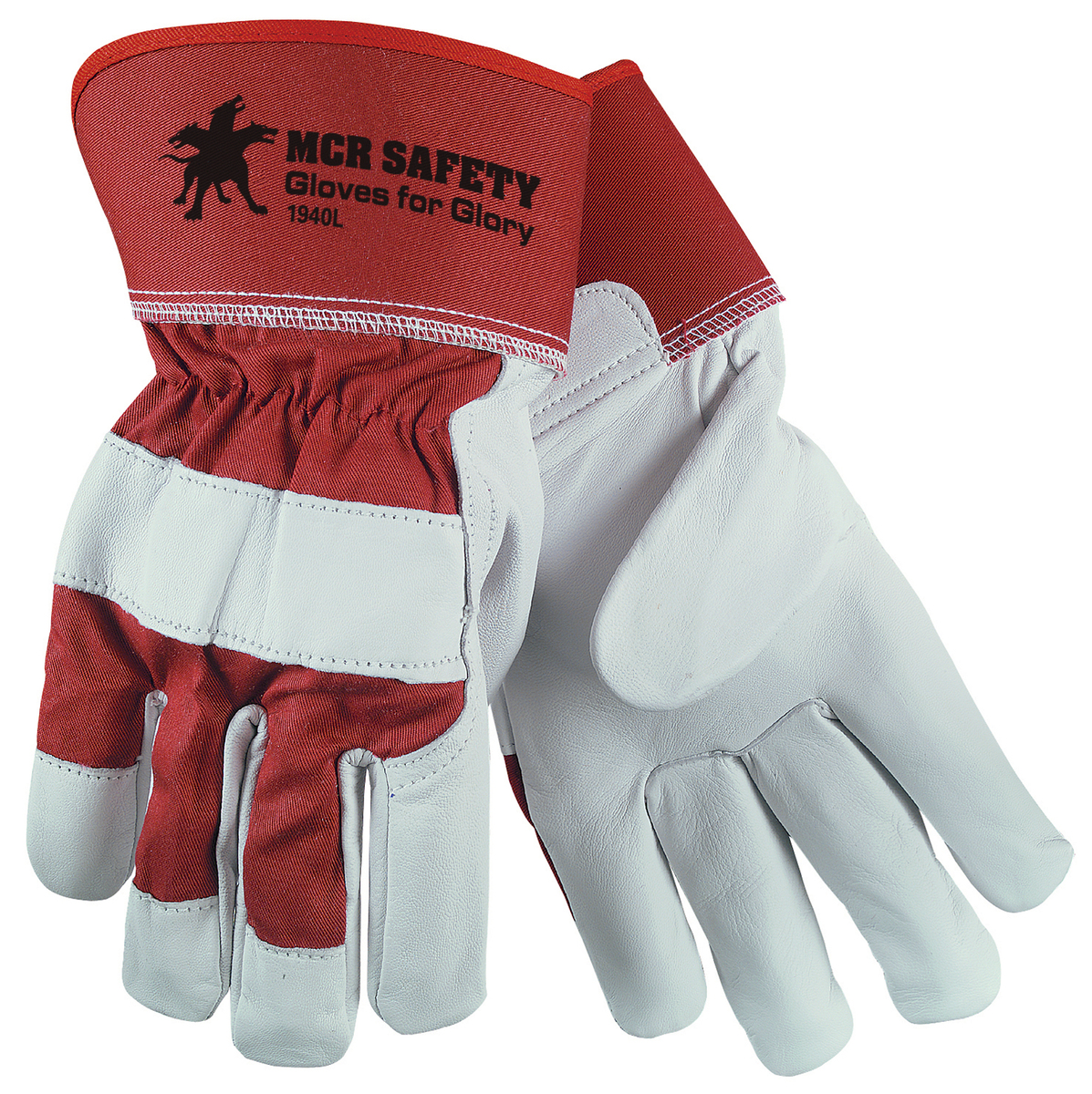 1940 MCR Safety Gloves For Glory Grain Goatskin Leather Palm 2.5 Inch Safety Cuff-MCR Safety