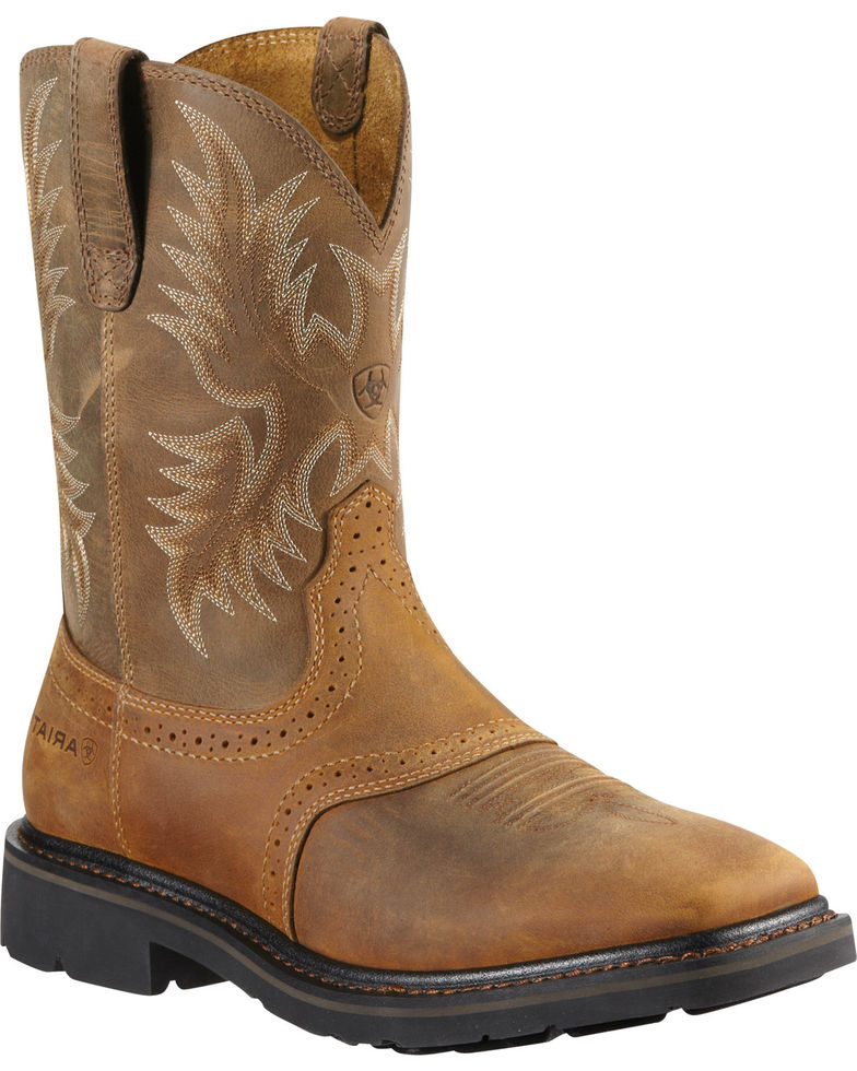 Ariat Men's Sierra Steel Square Toe Western Work Boots Item # 030392-Ariat Boots