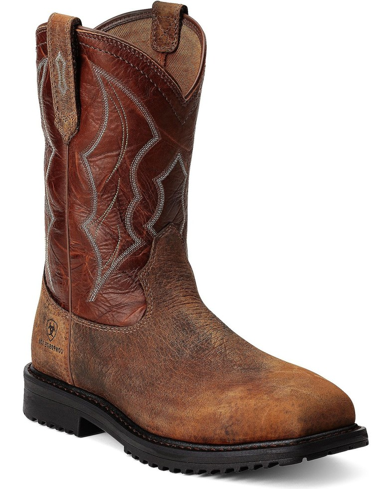 Ariat Men's RigTek Wide Square Toe CT Work Boots-Ariat Boots
