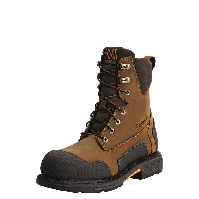 "Ariat OverDrive XTR 8"" Side Zip Steel Toe Work Boot-Ariat Boots"