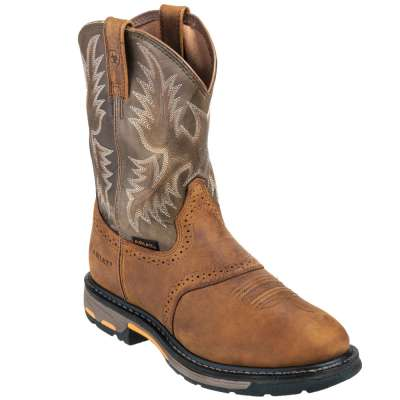 Ariat Boots 10001188 Men's Pull On Workhog Cowboy Boots-Ariat Boots