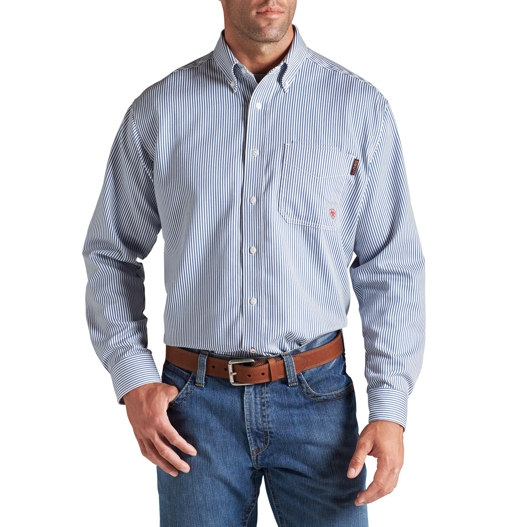 Ariat FR Blue Stripe Work Shirt-Ariat
