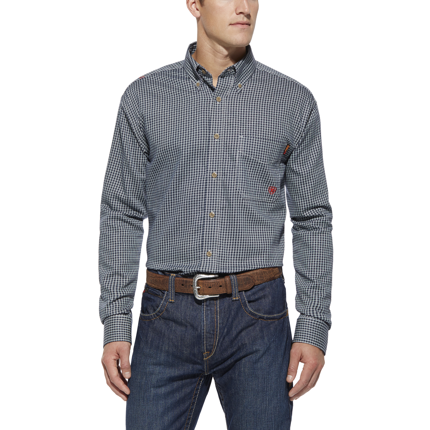 Ariat FR Blue Multi Work Shirt-Ariat