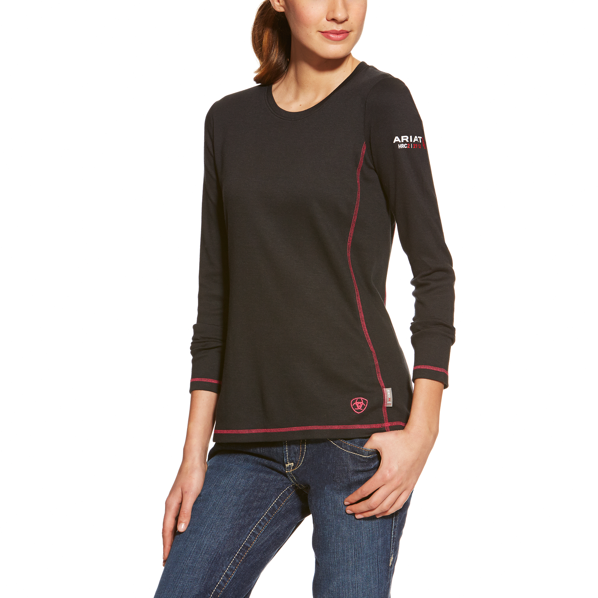 Ariat Women's FR Power Dry Top Black-