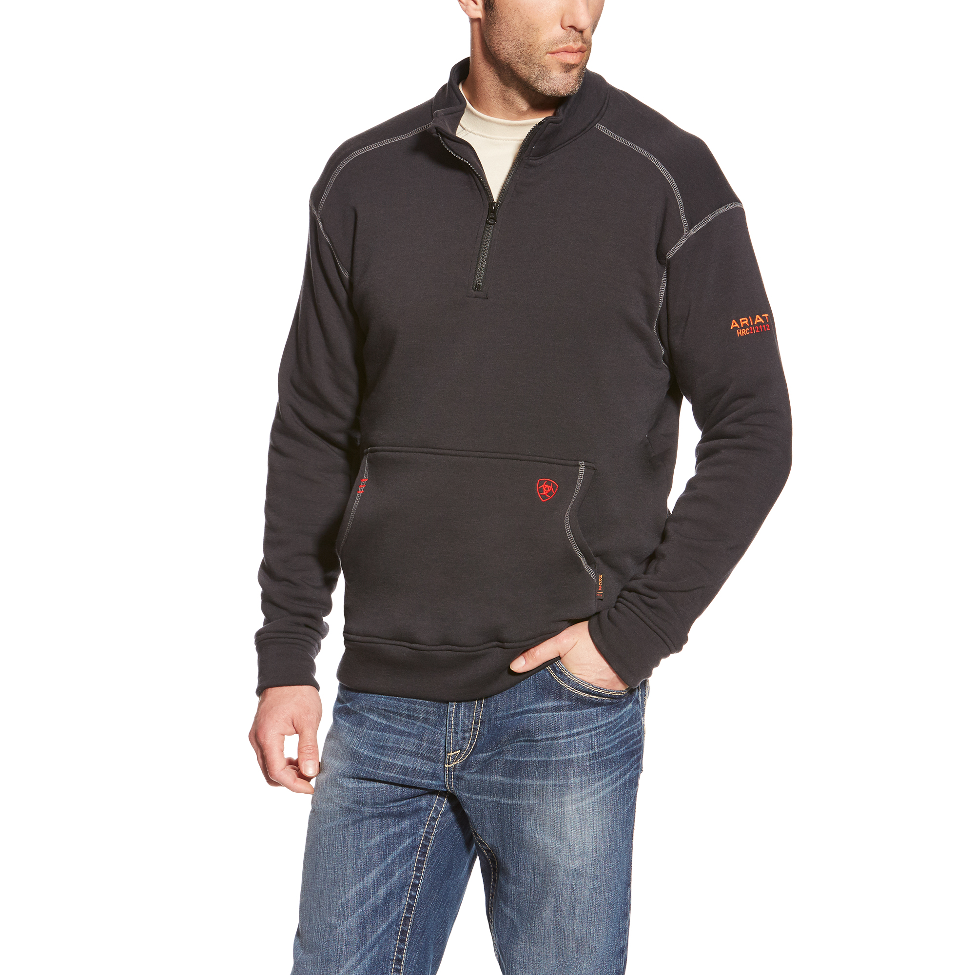 Ariat FR Polartec 1/4 zip Fleece Black-Ariat