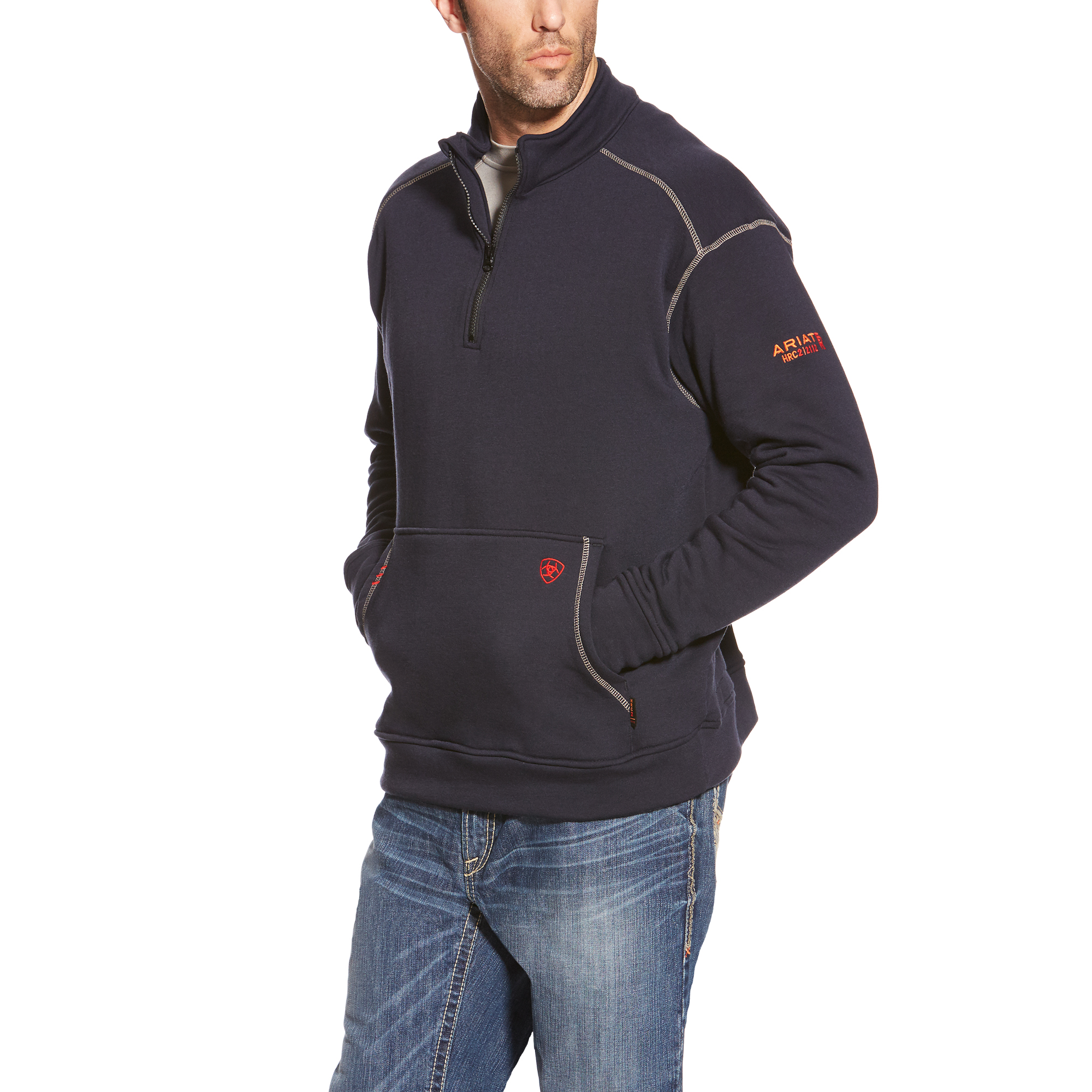 Ariat FR Polartec 1/4 zip Fleece Navy-Ariat