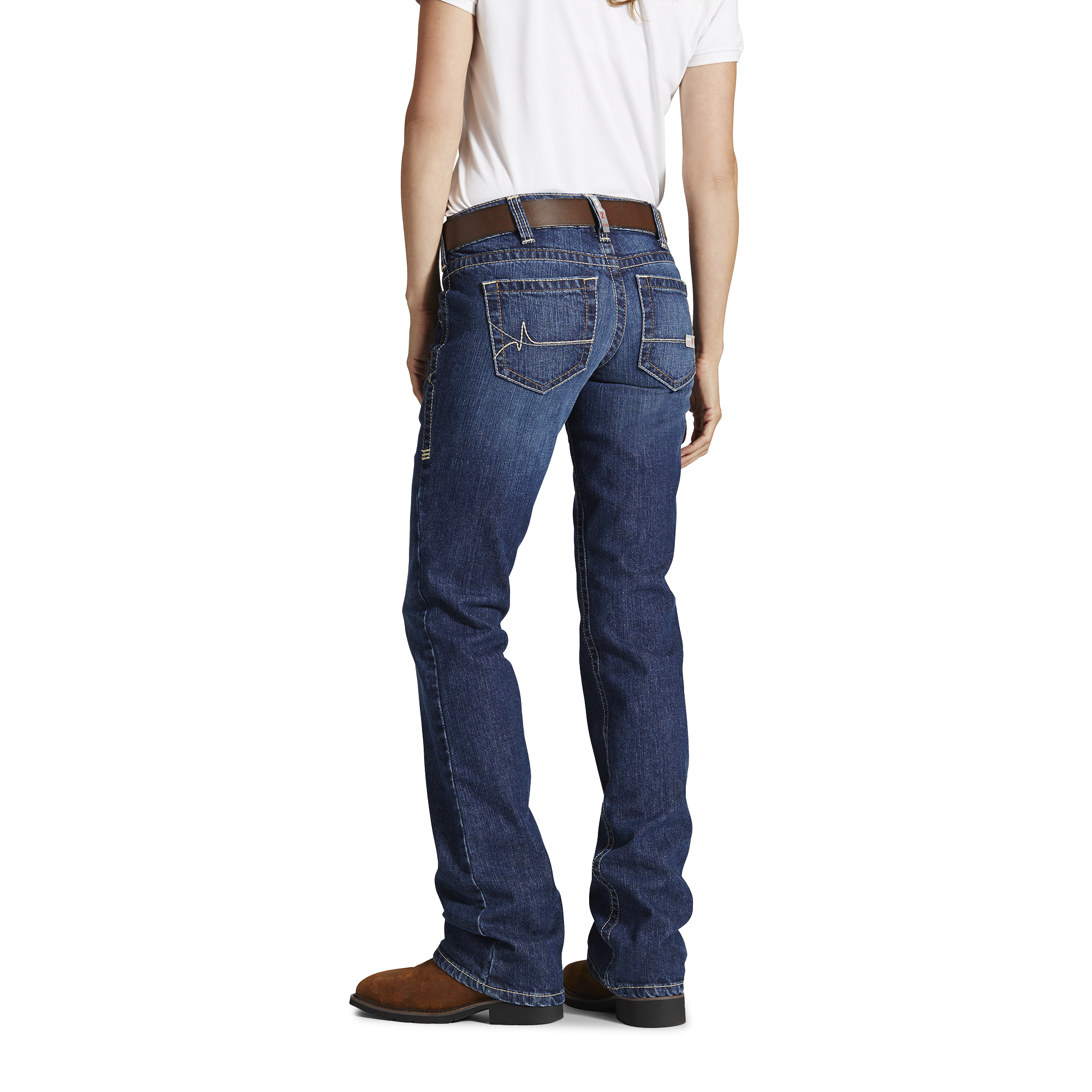 Ariat Women's FR Mid Rise Boot Cut Jeans-Ariat