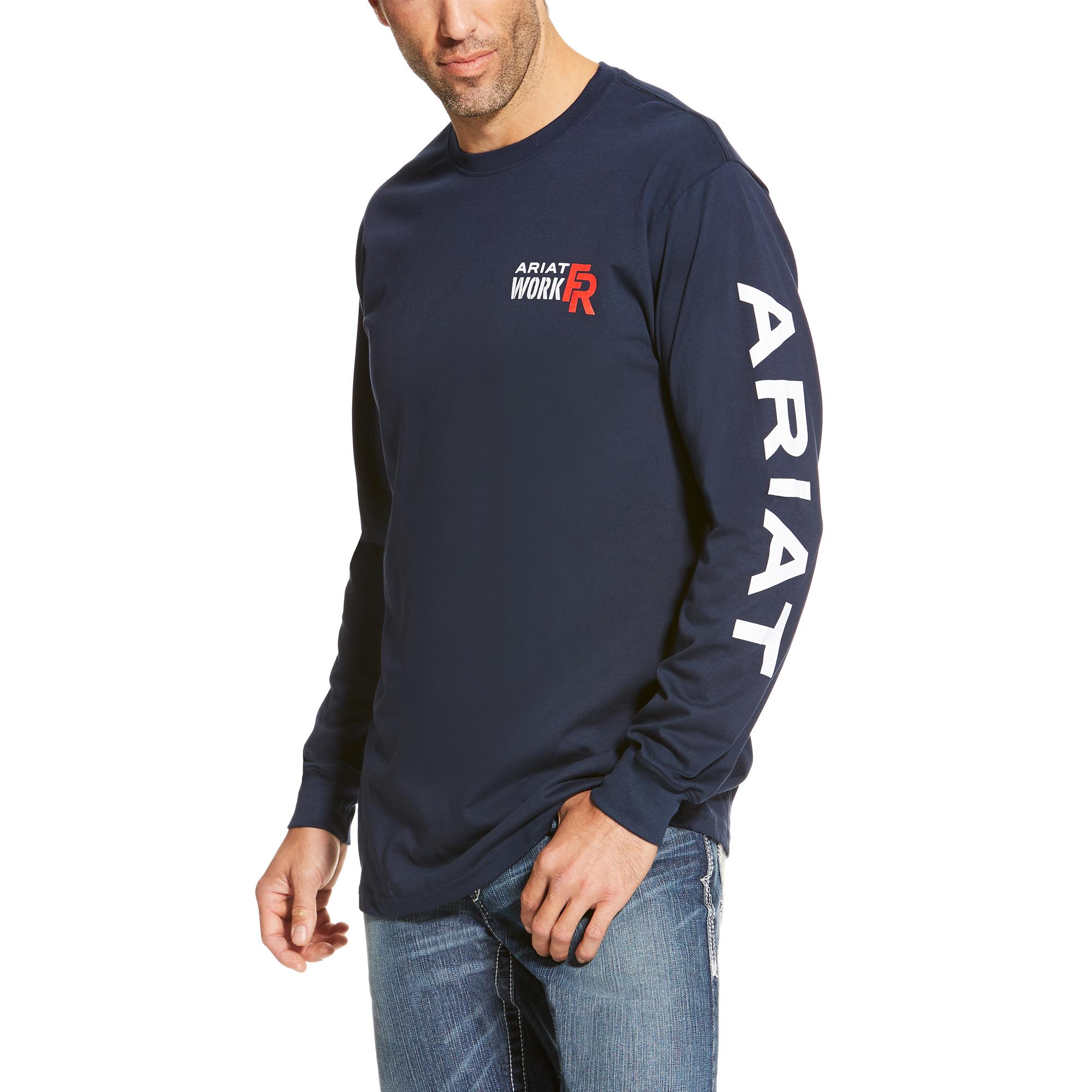 Ariat FR Logo Crew Navy-