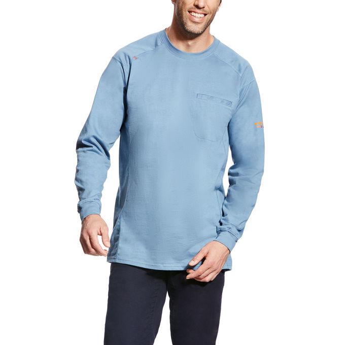 Ariat FR Air Crew T-shirt Lt Blue-Ariat