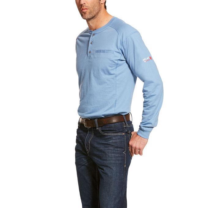 Ariat FR Air Henley Top - Steel Blue -Ariat