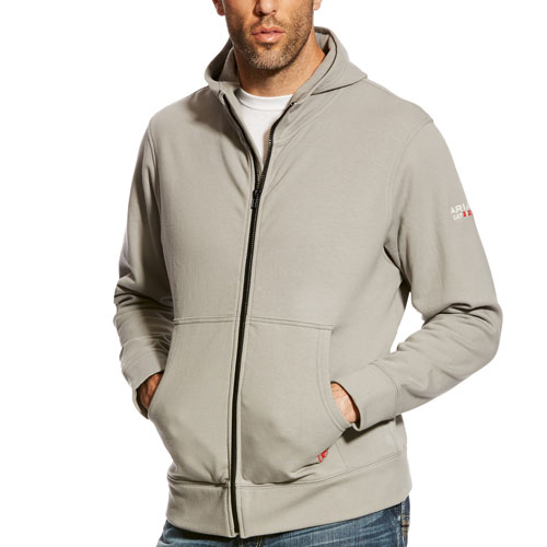 Ariat FR Durastretch Full Zip Hoodie Silver Fox-Ariat