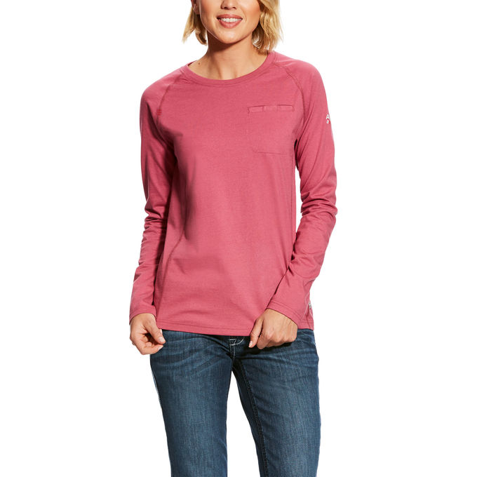 Ariat Women's FR Air Crew T-Shirt - Rose-Ariat