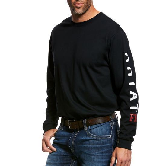 Ariat Flame Resistant Men's Black Roughneck Skull Logo T-Shirt-