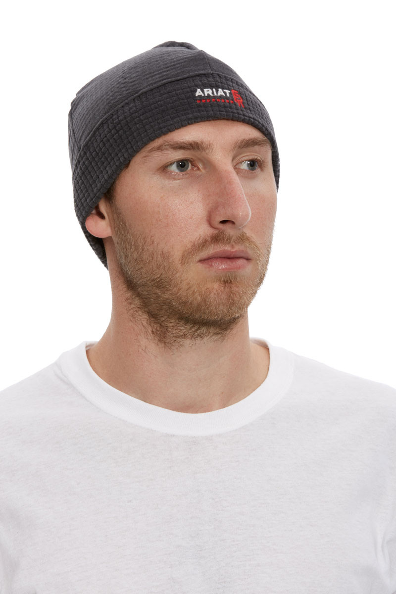 Ariat FR POLARTEC BEANIE IRON GREY-Ariat