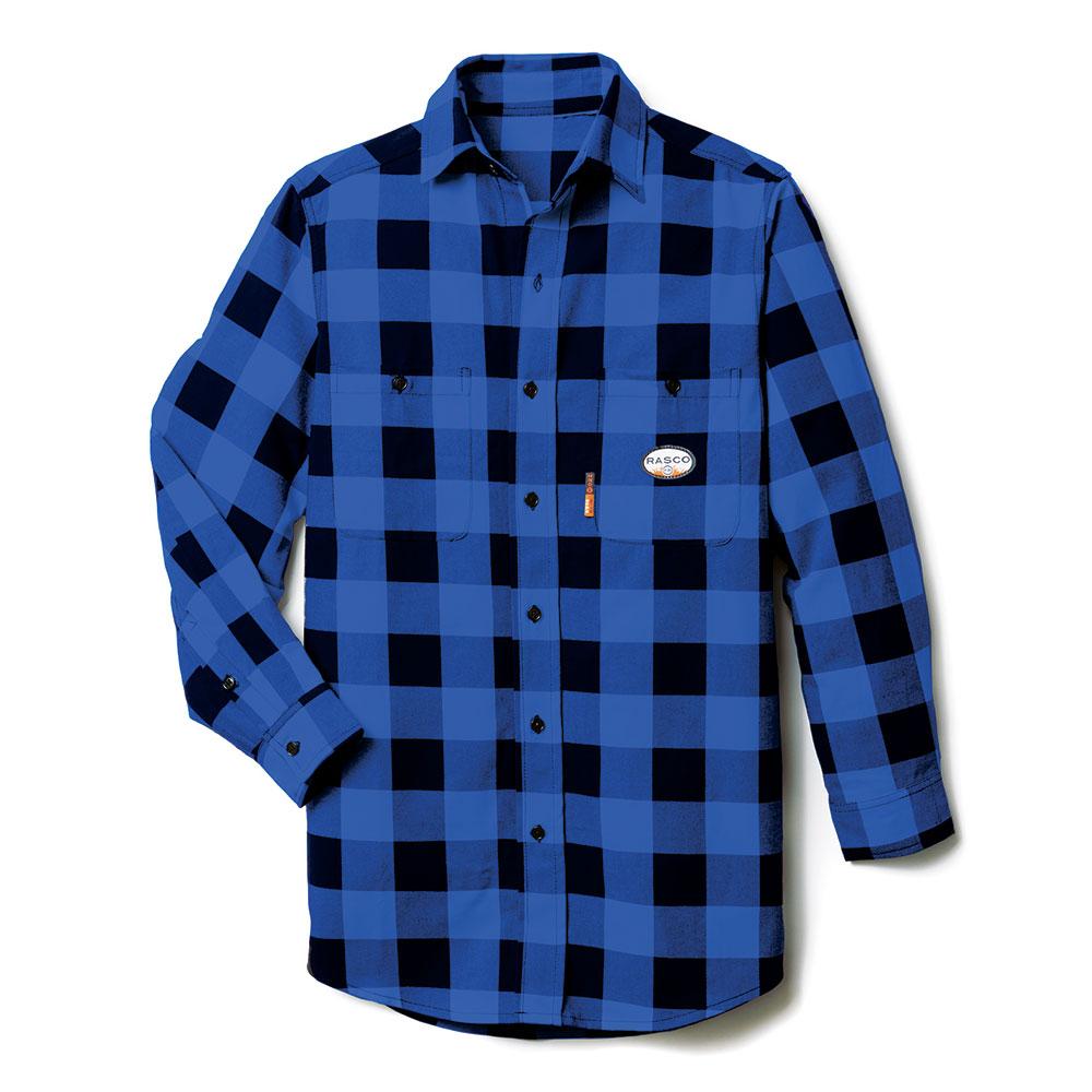 Rasco Buffalo Plaid Shirt - Black and Blue-Rasco