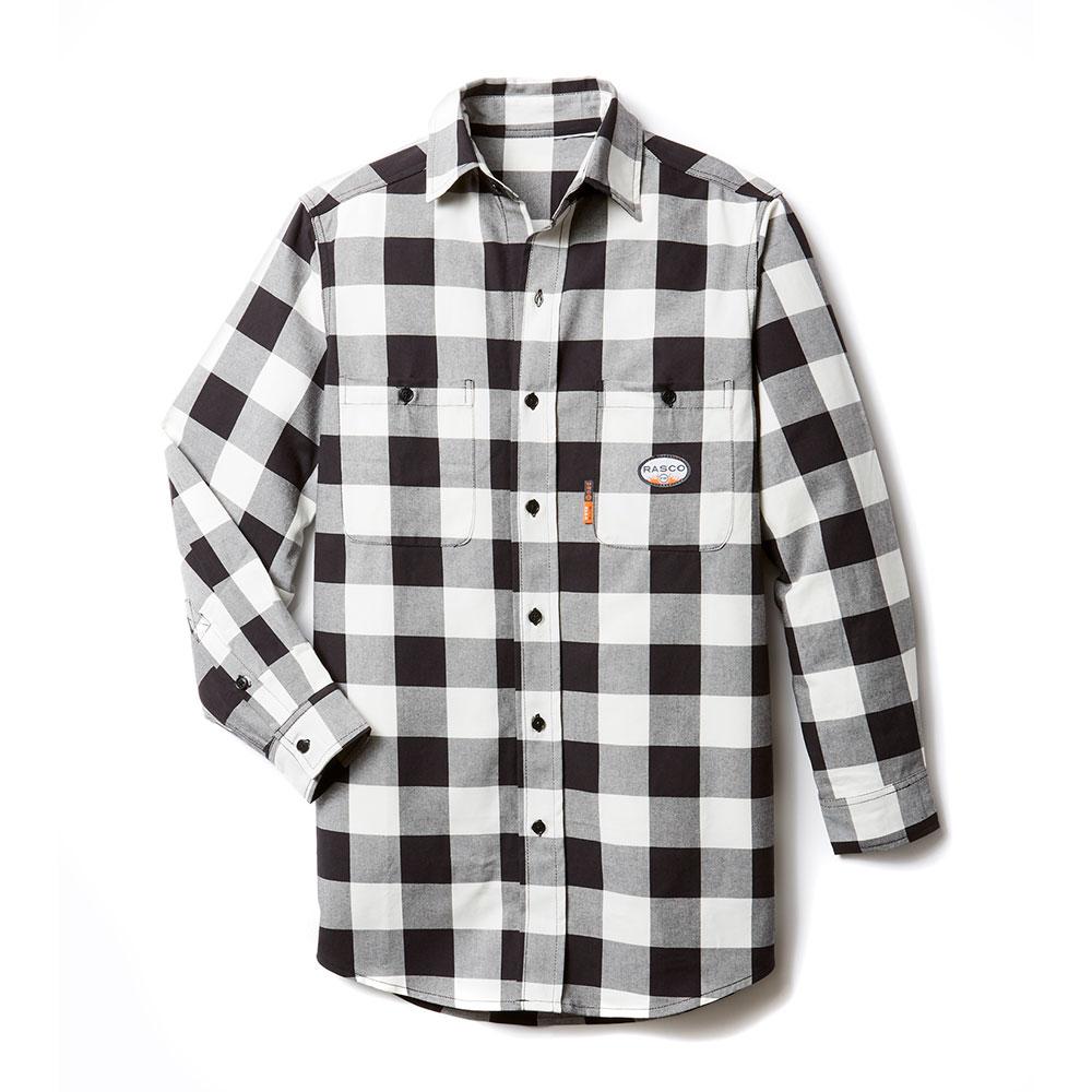 Rasco Buffalo Plaid Shirt - Black and White-Rasco