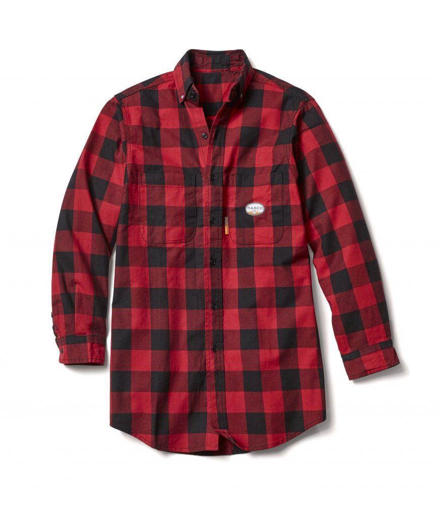 Rasco Buffalo Plaid Shirt - Red and Black-Rasco