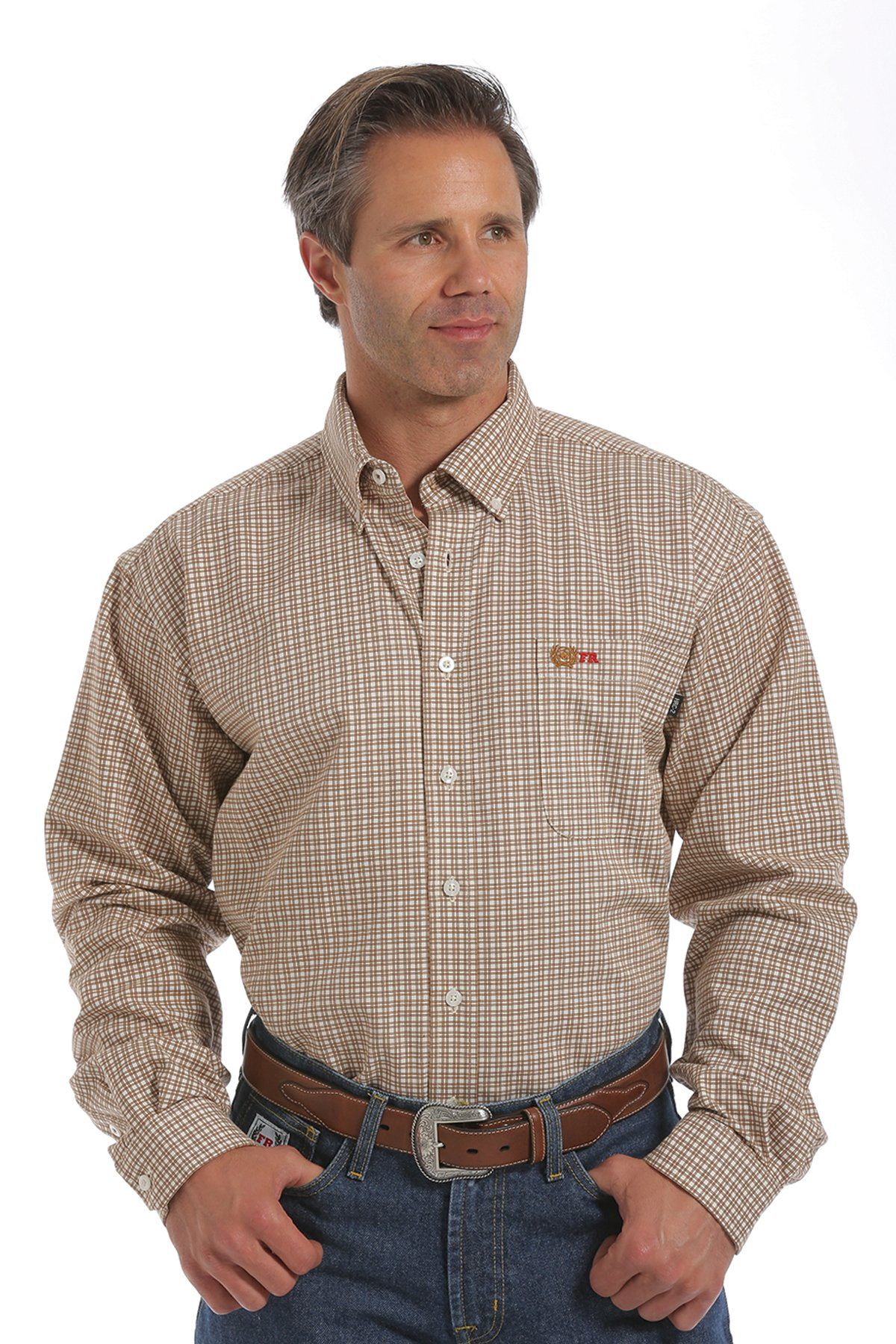 CINCH FR WRX BROWN PLAID WORK SHIRT-Cinch WRX