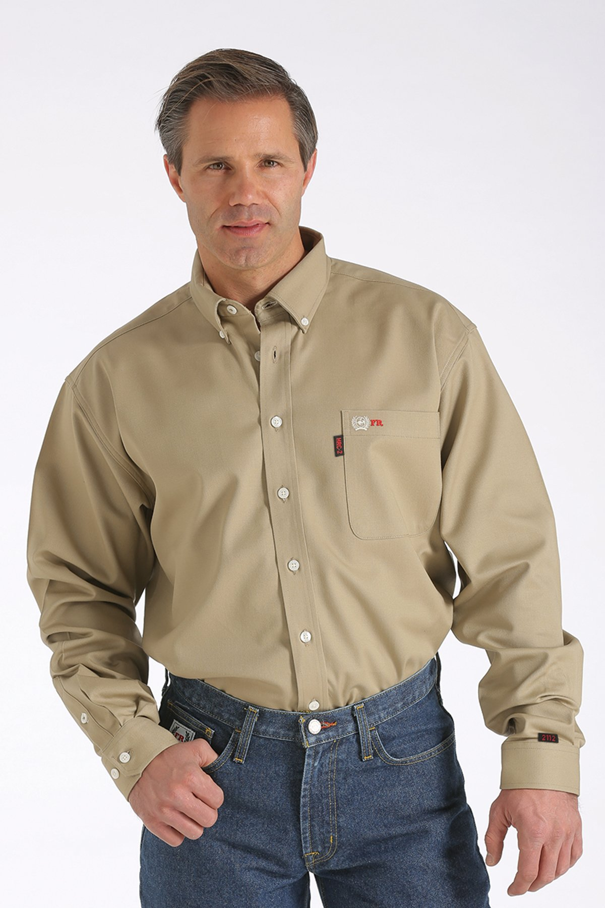 CINCH FR WRX KHAKI WORK SHIRT-Cinch WRX