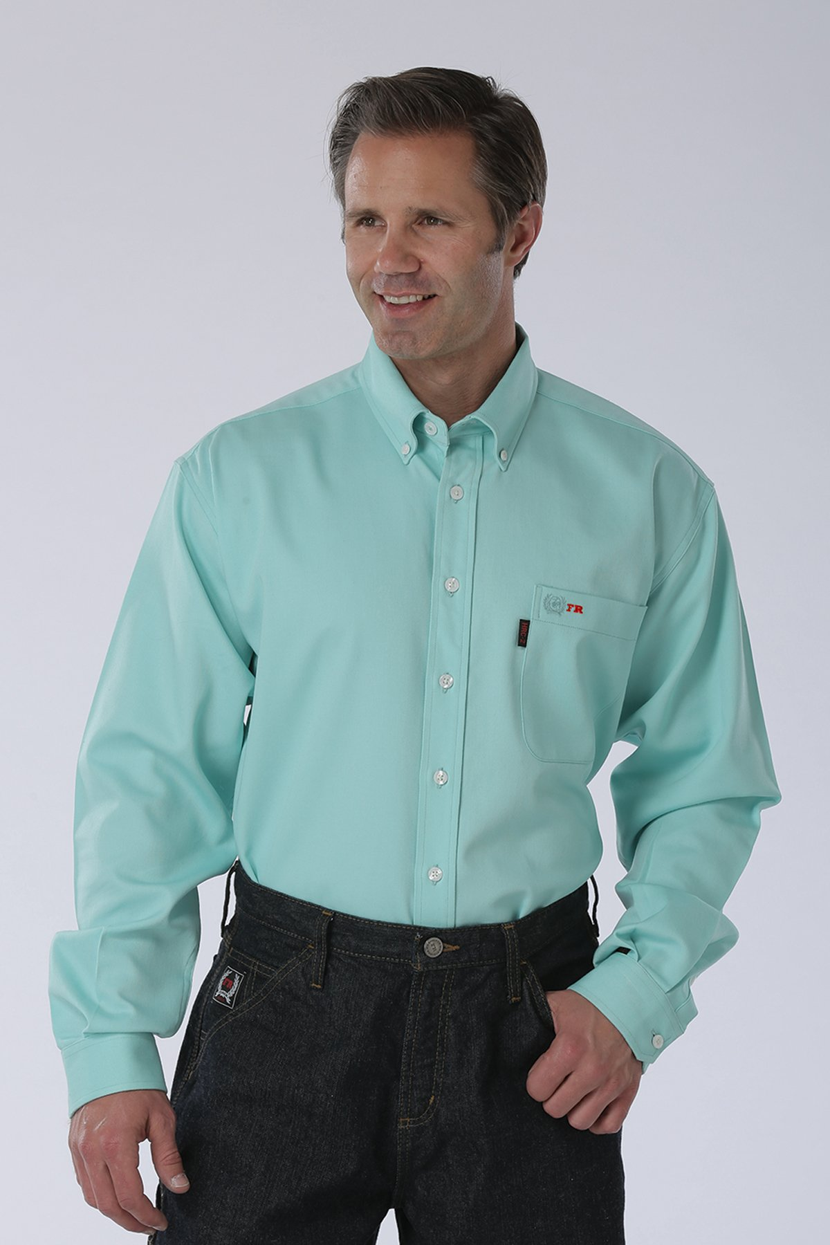 CINCH FR WRX LIGHTWEIGHT WORK SHIRT IN TURQUOISE-Cinch WRX
