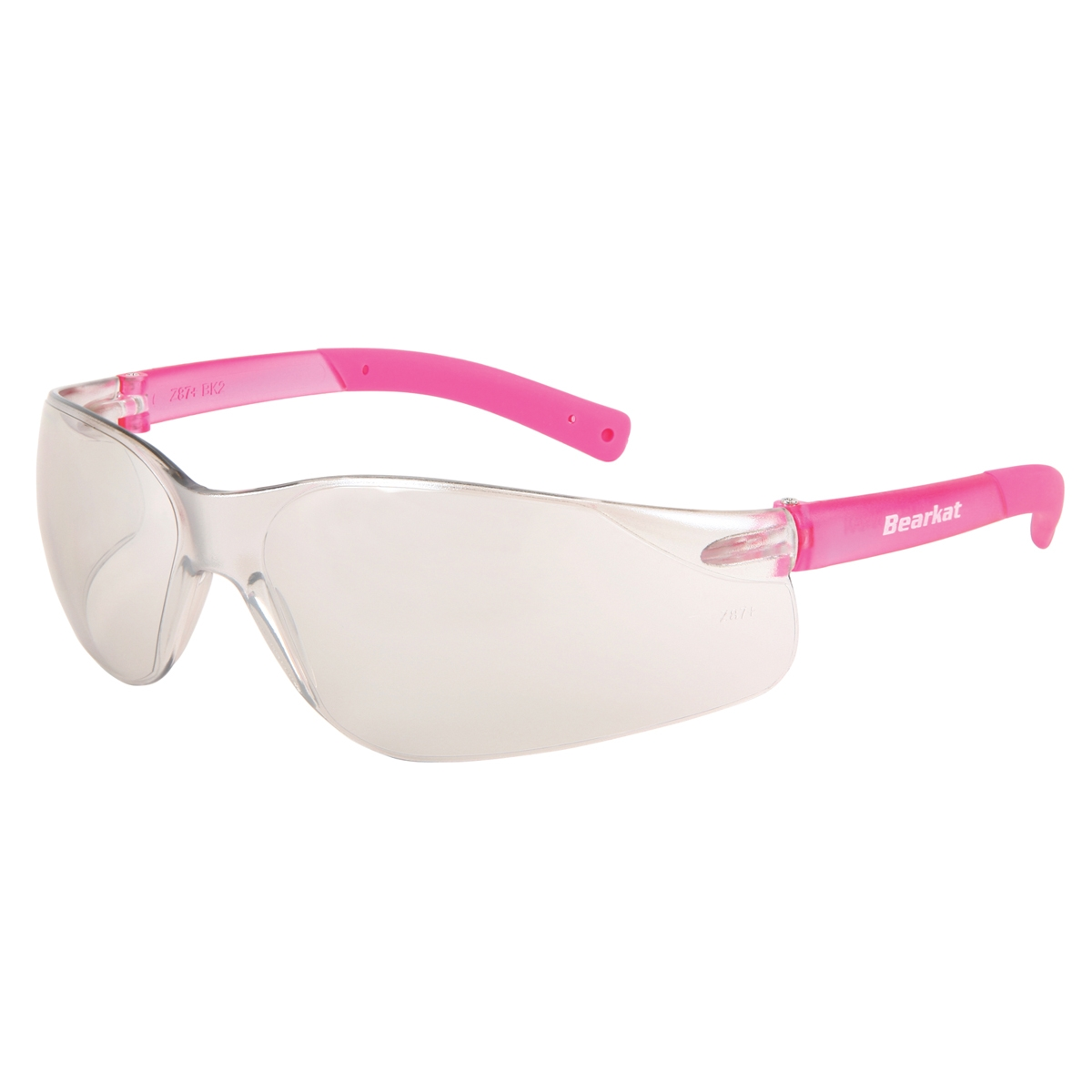 BearKat® BK2, I/O Clear Mirror Lens, Pink temples, pink temple sleeve-MCR Safety