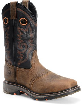 "Men's 12"" Workflex Wide Square Composite Toe Roper-Double H"
