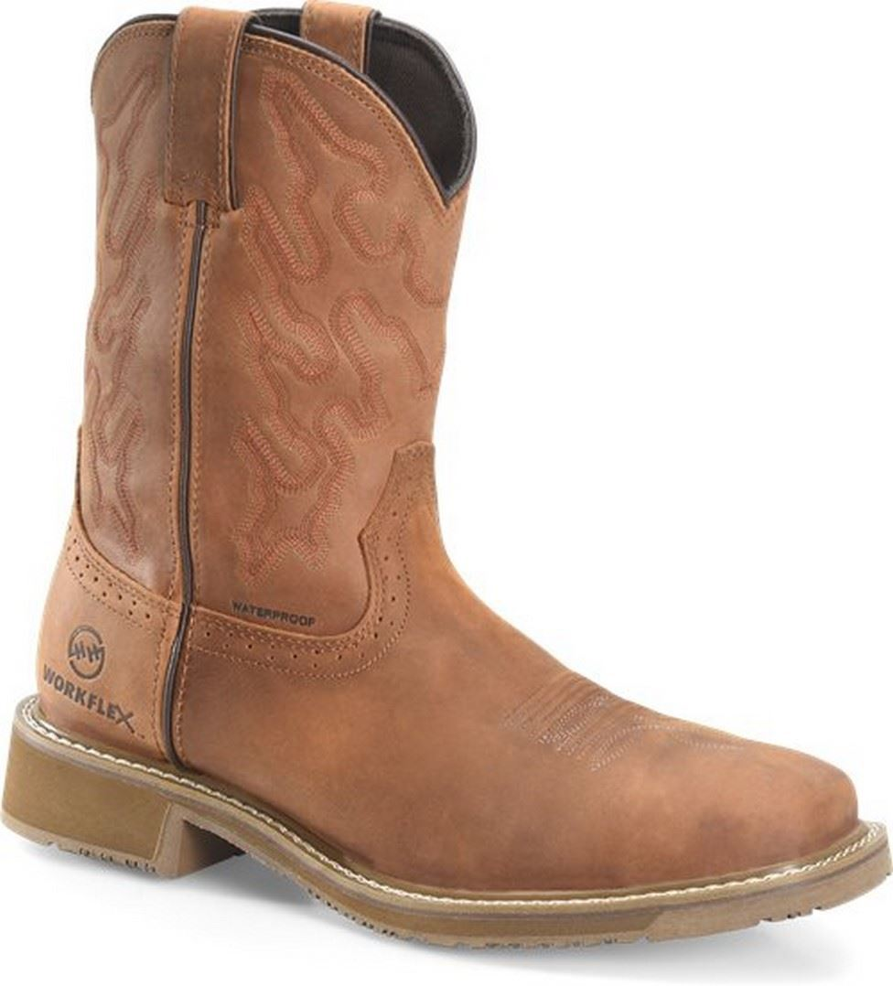 "Men's 10"" Workflex Wide Square Comp Toe Roper-Double H"