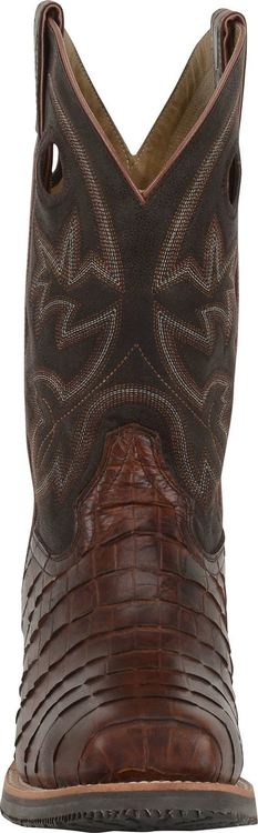 "Men's 12"" Wide Square Safety Toe Roper-Double H"