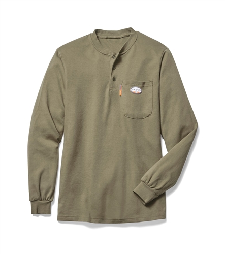 Rasco Henley T-Shirt - Khaki-