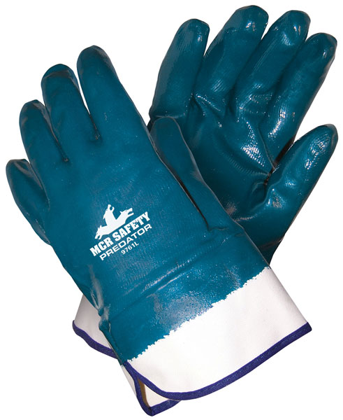 Predator®, Fully Coated Nitrile, Jersey lining, Safety Cuff, Actifresh Treated -Global Glove