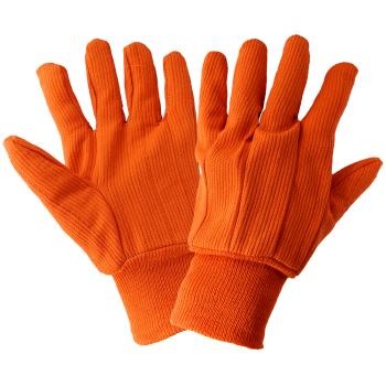 Corded Orange Cotton Gloves-Global Glove
