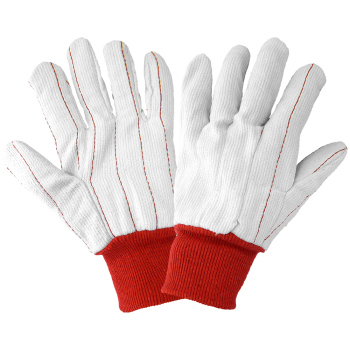 Cotton Corded Knit Wrist Gloves-