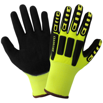 Vise Gripster C.I.A. - High-Visibility Mach Finish Nitrile Impact Protective Gloves-Global Glove