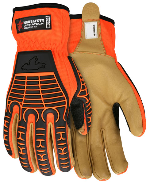 MC503 - UltraTech multi-task, Goatskin Palm, Diamond Tech lined, cut resistant-MCR Safety