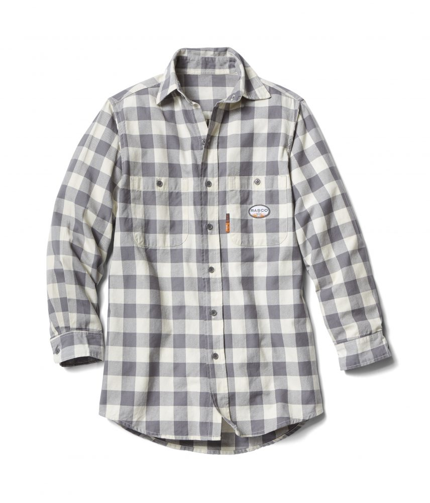 Rasco Buffalo Plaid Shirt - Gray and White-Rasco