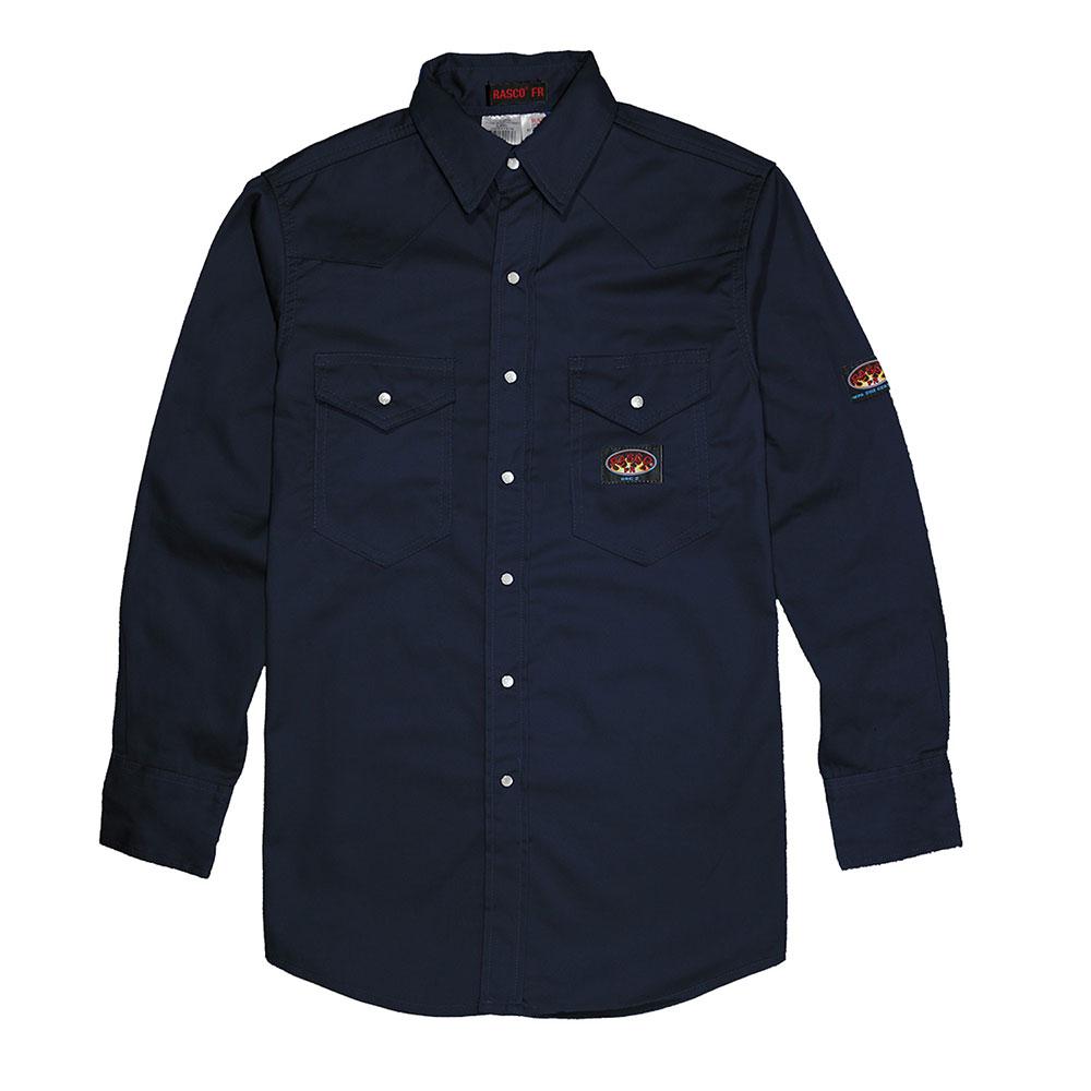 Rasco Lightweight Work Shirt - Navy-