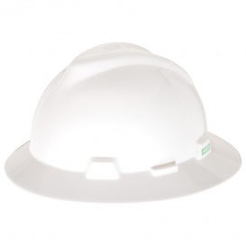 MSA 475369 V-Gard Full Brim Hard Hat - Fas-Trac Suspension - White-Airgas